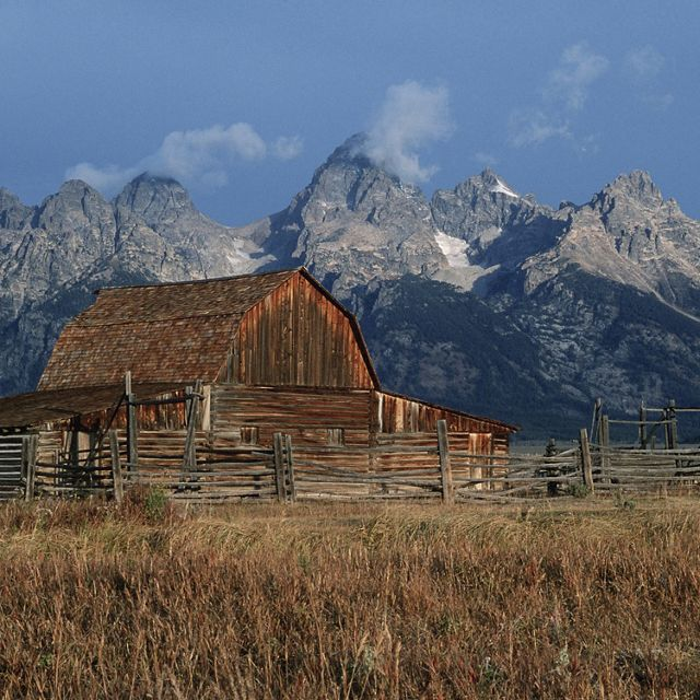 Historic barn near Grand Teton National Park, Wyoming.