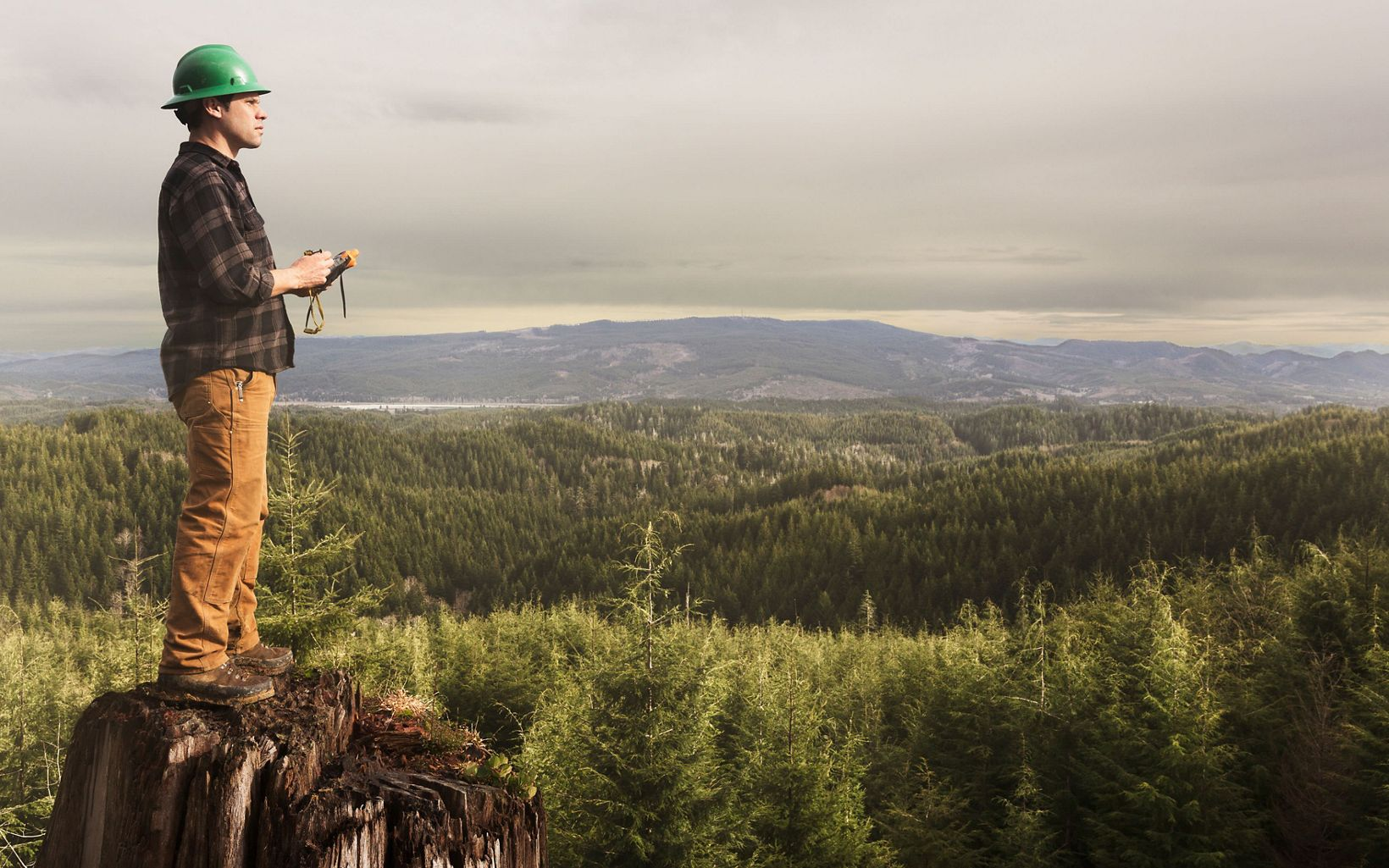 Conservancy Forest Manager Kyle Smith in Ellsworth Creek Preserve in Washington.