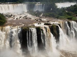 View of Iguaçu Waterfalls in Brazil