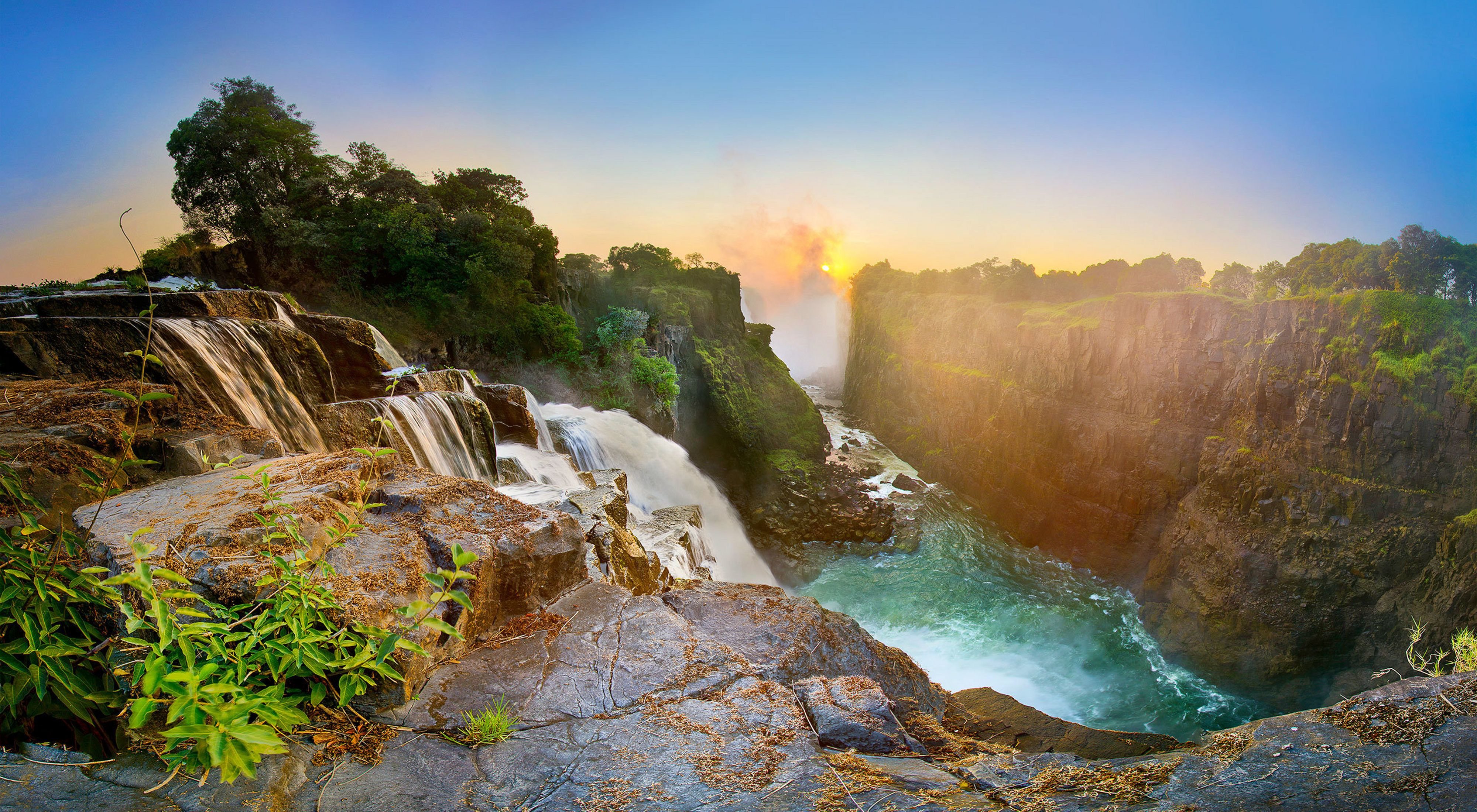 The Devil's Cataract of the Victoria Falls, Zimbabwe.