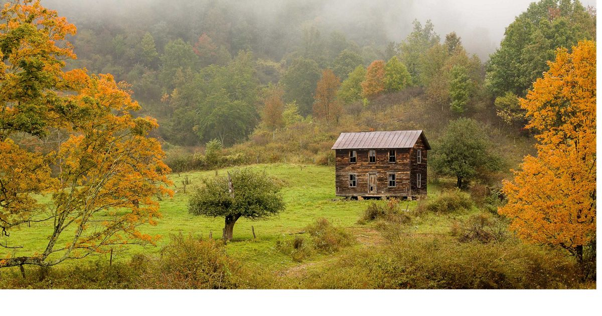 Old farm house in the Appalachian highlands of West Virginia.