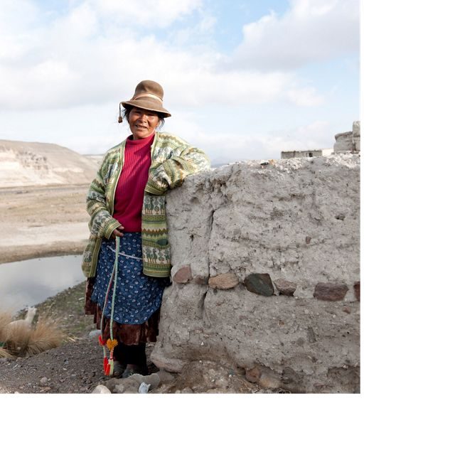 Local woman at Salinas-Aguada Blanca Natural Reserve located in the northwest part of the Arequipa Region of Peru.