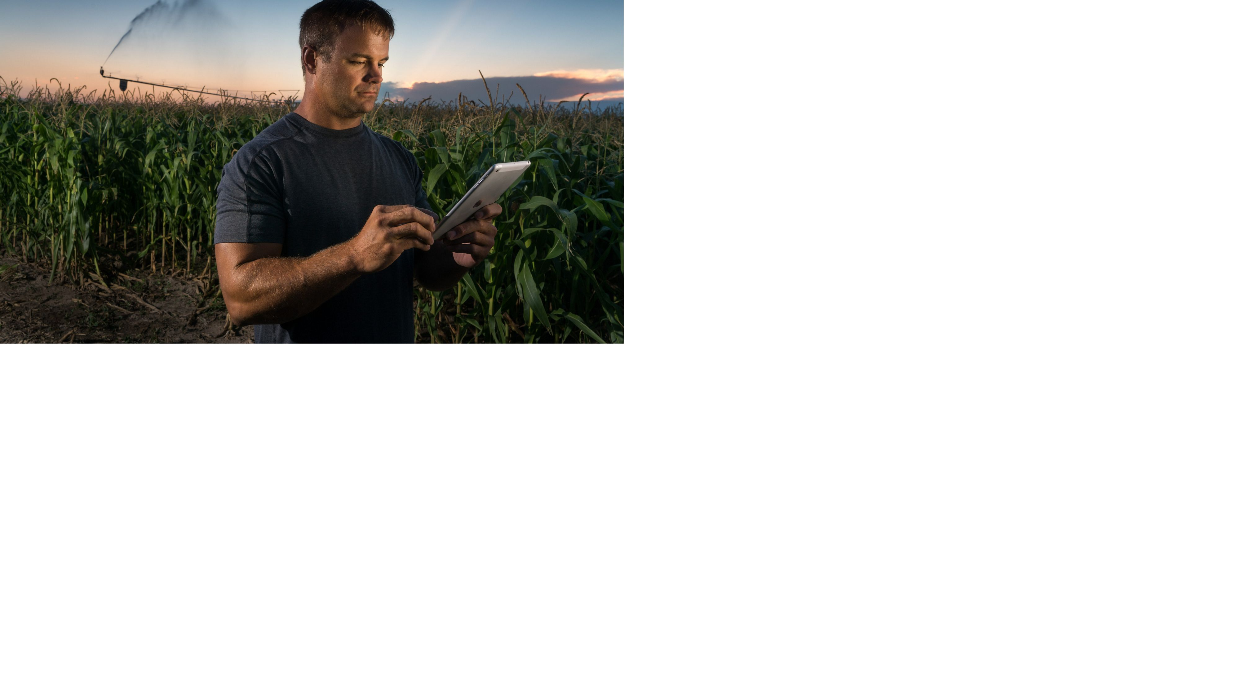 GPS irrigation mapping. Mike Svboda, of Svboda farms in Nebraska, controls his irrigation pivot from the GPS software on his iPad.
