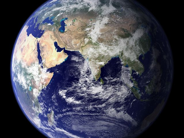 View of Africa and Asia from Space