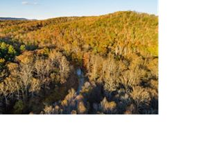 Aerial view of Sideling Hill Creek Preserve.