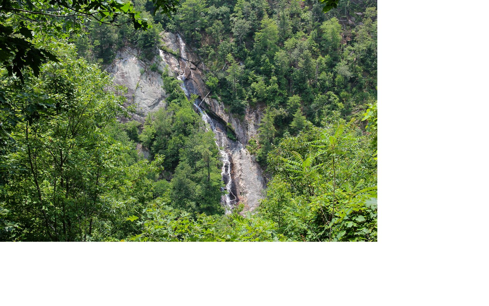 One of the head-water streams of the South Fork of the Roanoke River, Bottom Creek boasts a 200-foot high waterfall.