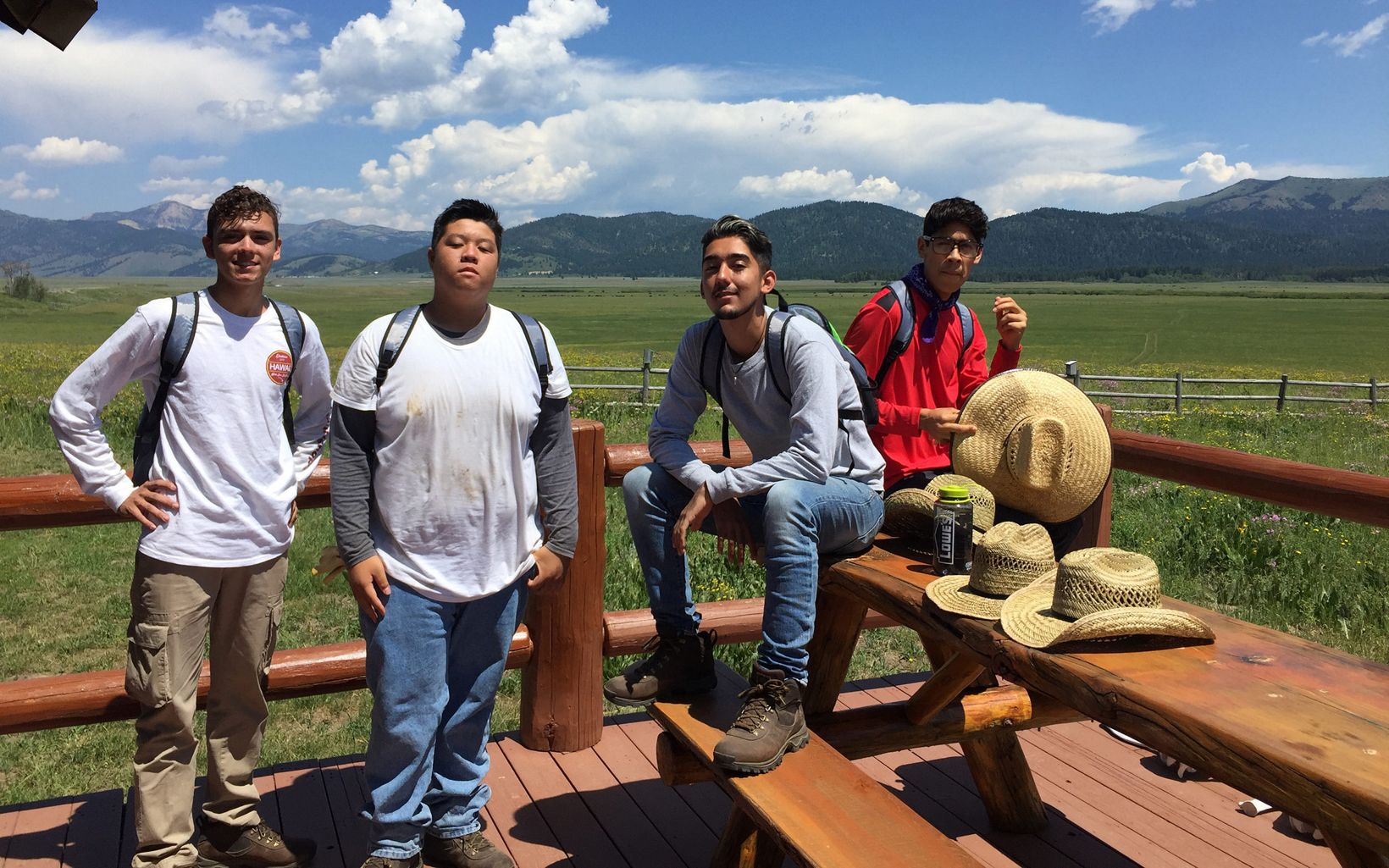 LEAF Interns take a break at the Flat Ranch Preserve