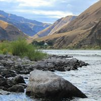 View of Hells Canyon from the river banks at the Garden Creek Preserve