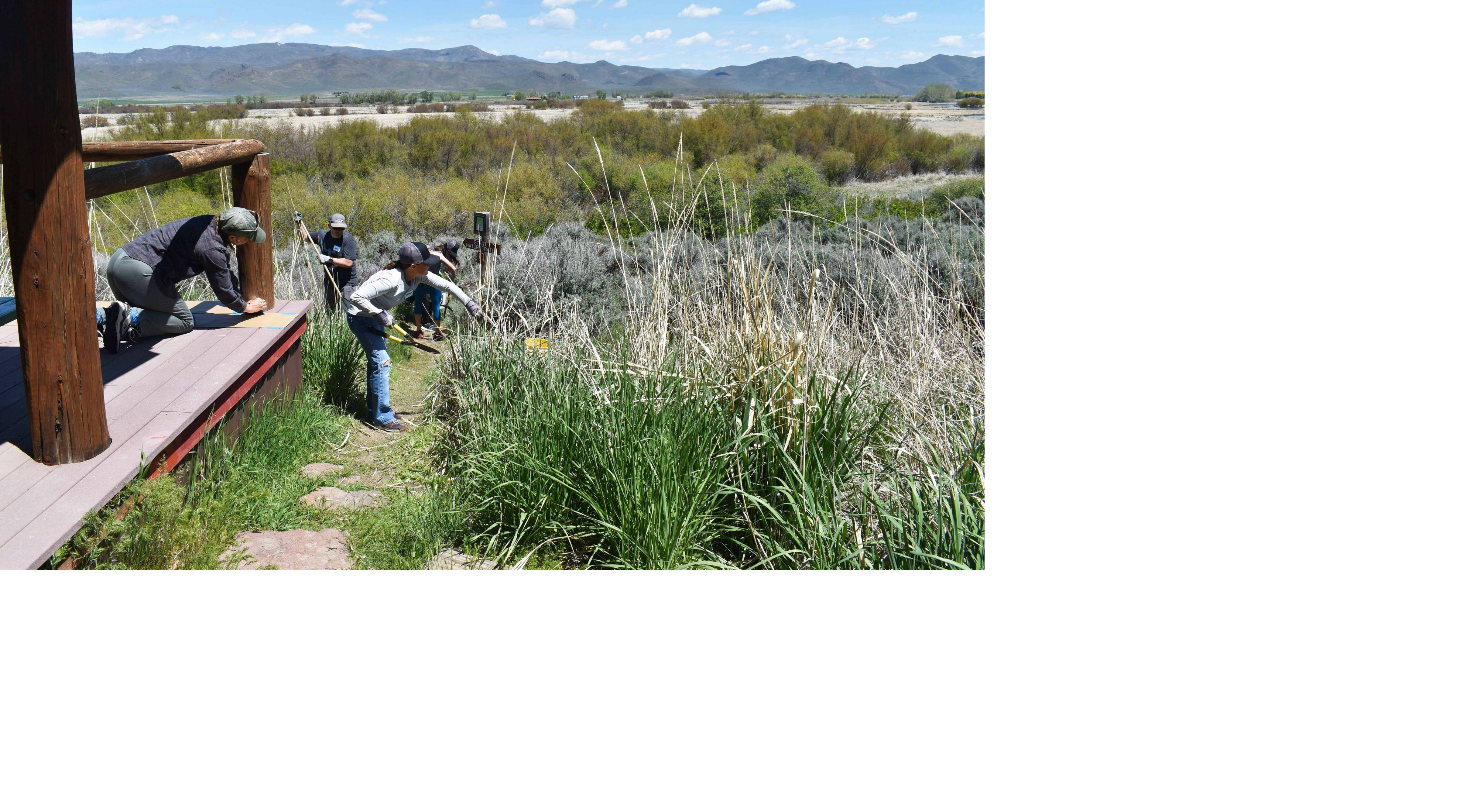Volunteers spend the day preparing Silver Creek Preserve for opening day, 2019.
