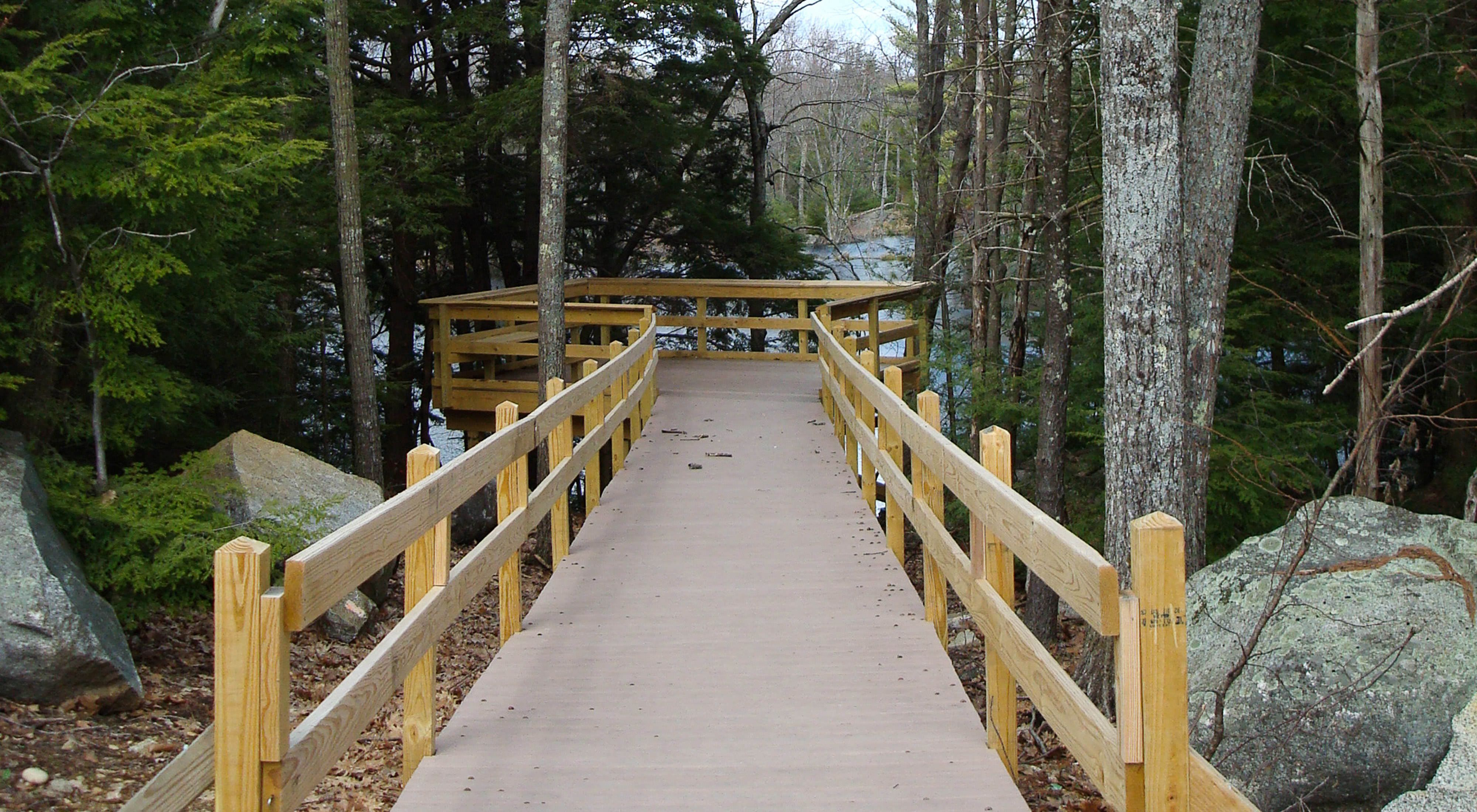 The 4.3-mile Sweet Trail runs from Longmarsh Road in Durham to Great Bay at the Lubberland Creek Preserve in Newmarket, New Hampshire.