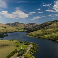 enjoy Pearrygin Lake State Park in the Methow Valley. The campgrounds are a family favorite, boasting small beaches and lake access for boating, fishing and swimming.