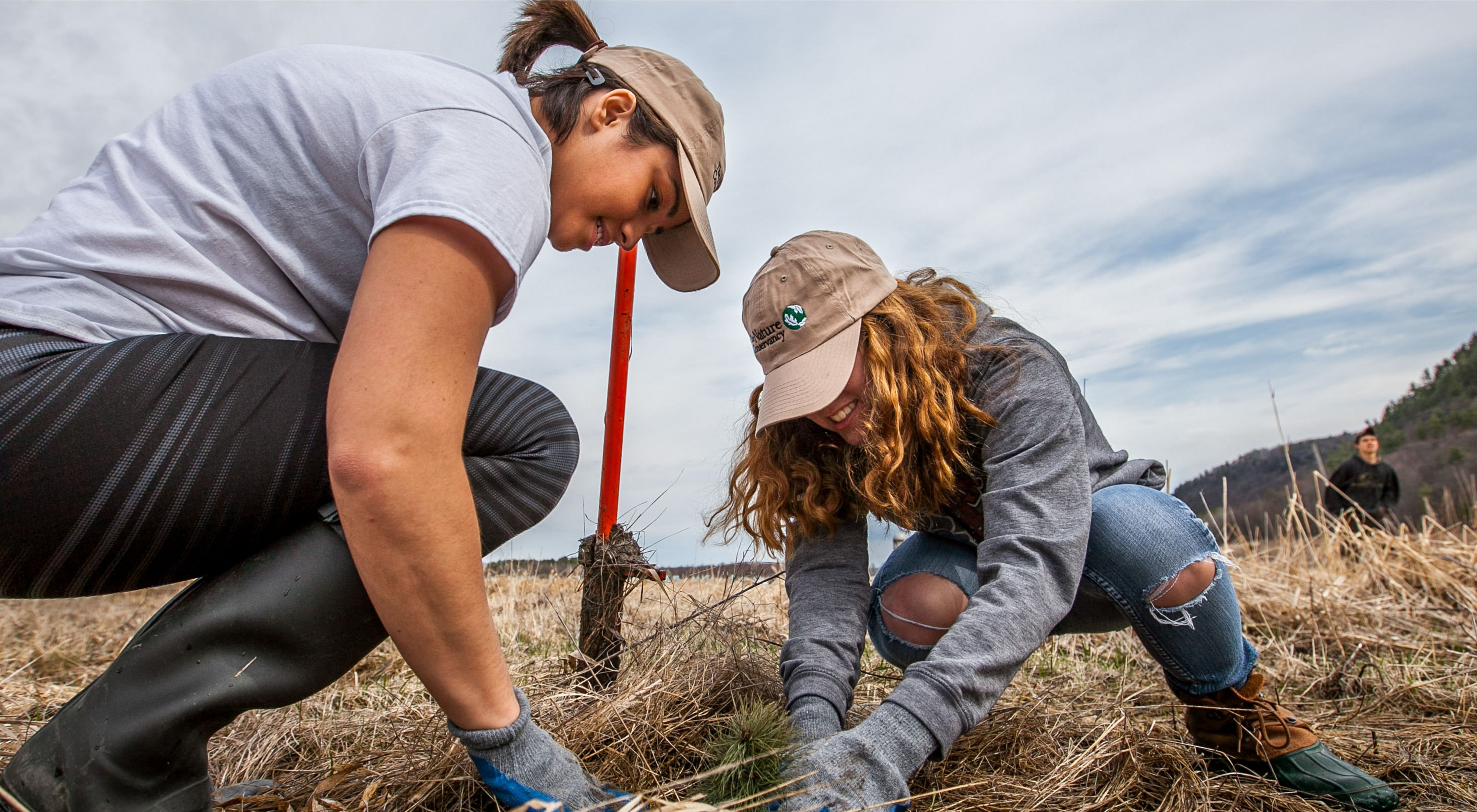 planting white pine, American elm and pussy willow at Hubbardton River Clayplain Natural Area.