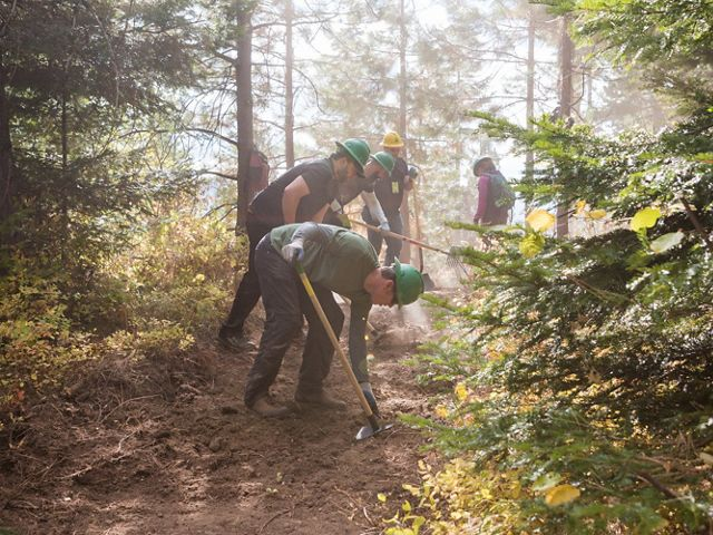 we built 2 miles of new trail on Roslyn Ridge! These REI volunteers sure know how to get things done!