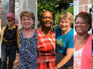 Collage of women in conservation in South Carolina
