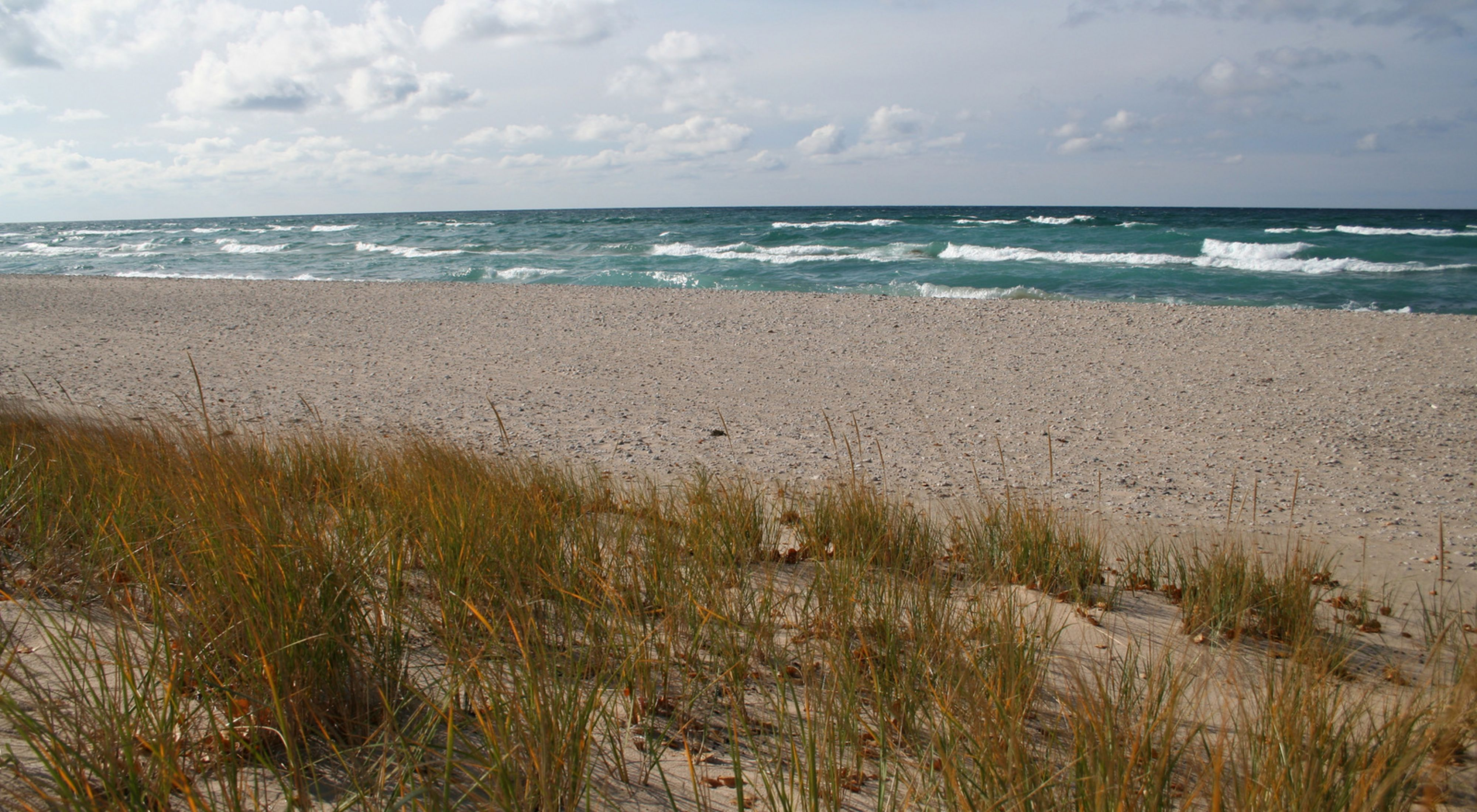 Overlooking the shore of Lake Michigan at Zetterberg Preserve at Point Betsie.